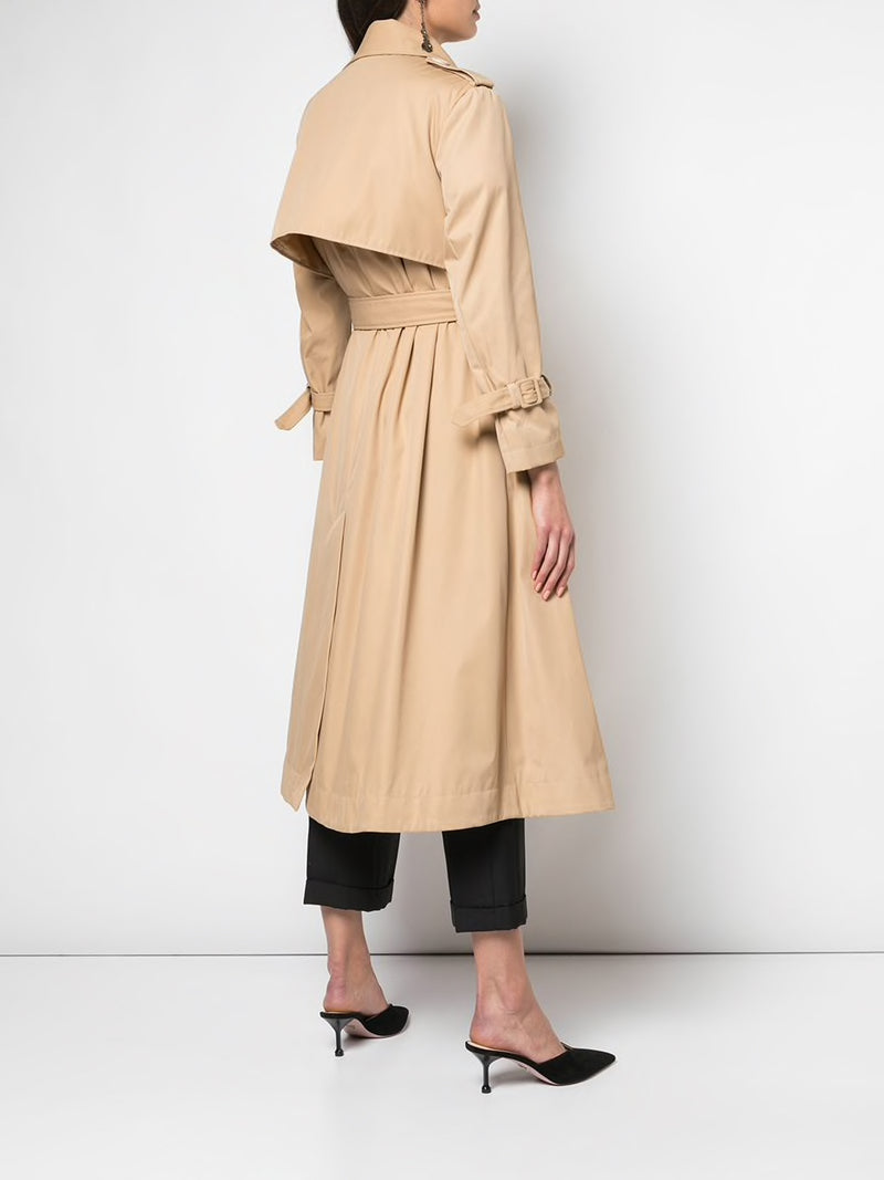 SIMONE ROCHA WOMEN DOUBLE BUSTIER BEADED TRENCH COAT
