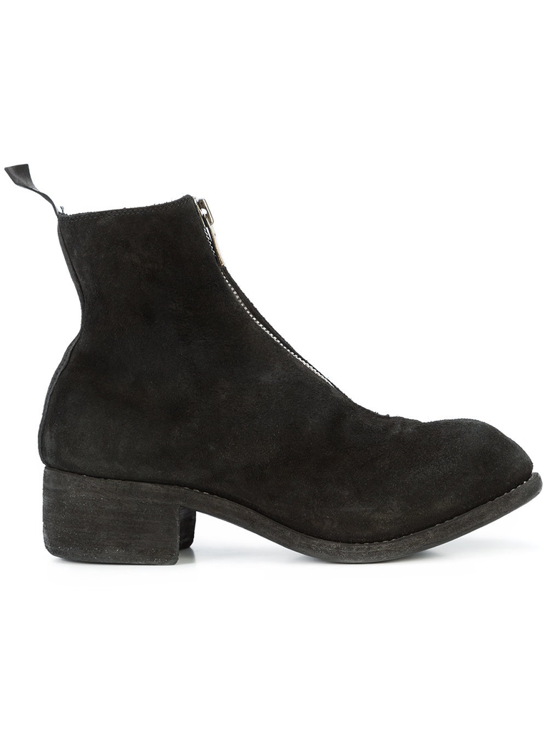 GUIDI WOMEN PL1 REVERSED SOFT HORSE LEATHER FRONT ZIP BOOT