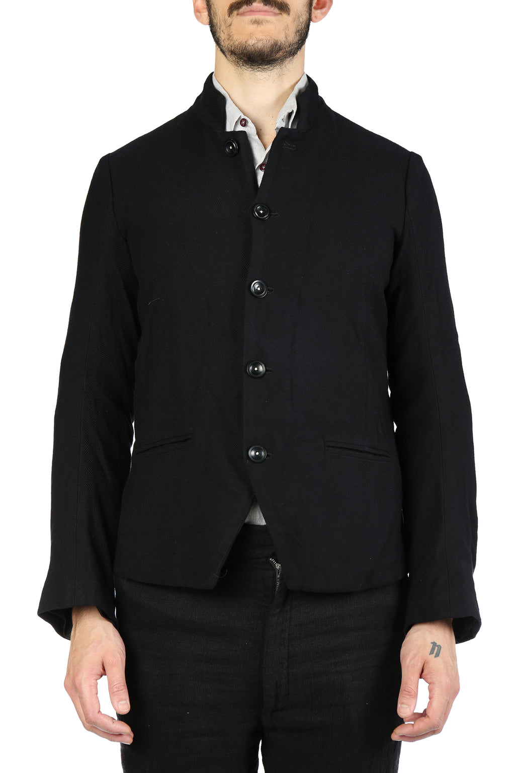 GEOFFREY B SMALL MEN HANDMADE SINGLE-BREASTED 5-BUTTON FULLY-LINED JACKET W/HANDMADE BUTTONHOLES AND BUTTONS