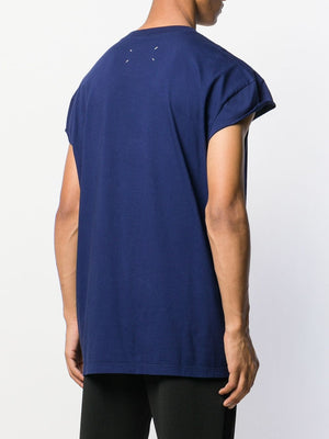 MAISON MARGIELA MEN OVERSIZED MUSCLE T-SHIRT WITH CUT OUT POCKET