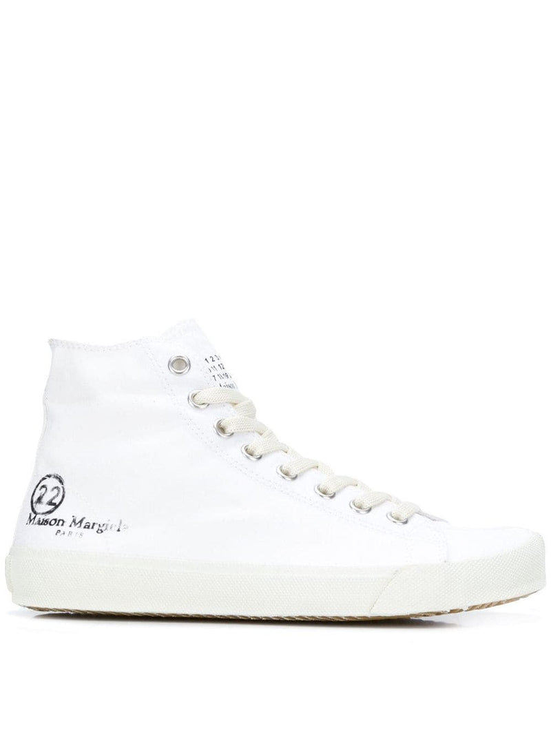 MAISON MARGIELA WOMEN HIGH TOP CANVAS TABI SNEAKERS