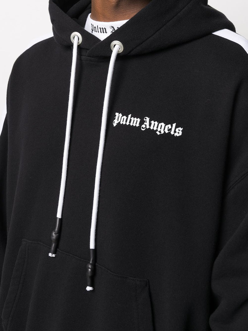 PALM ANGELS MEN FLEECE TRACK HOODIE