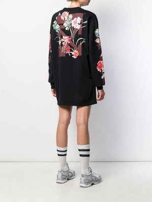 OFF WHITE WOMEN FLOWERS LONG DRESS