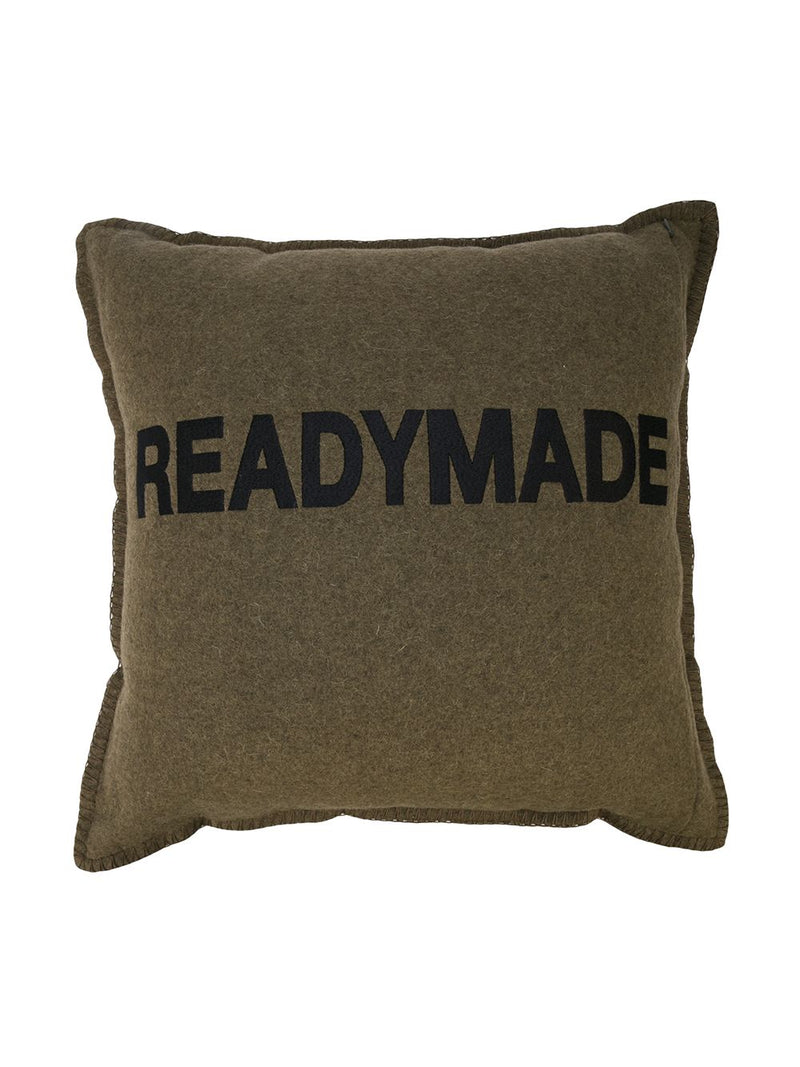 READYMADE VINTAGE US ARMY BLANKET CUSHION
