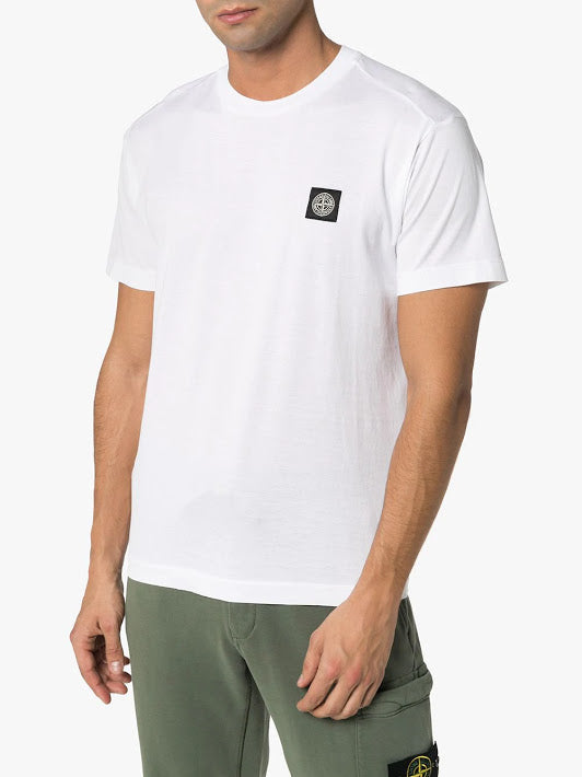 STONE ISLAND MEN LOGO EMBROIDERY SHORT SLEEVES T-SHIRT