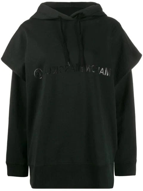 MM6 WOMEN CUT OUT ARM HOODIE