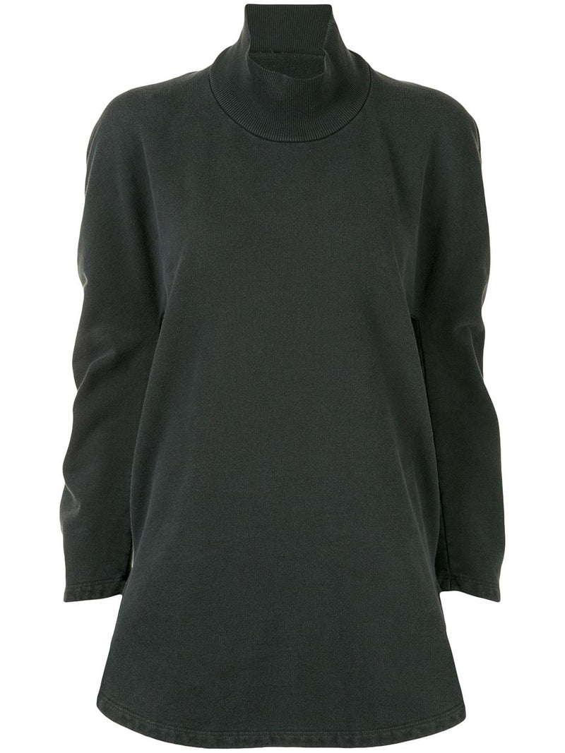 MM6 WOMEN MOCK NECK ROUND SWEATSHIRT