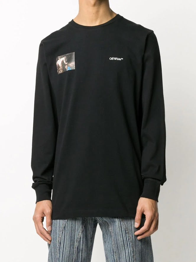 OFF-WHITE MEN CARAVAGGIO ANGEL L/S TEE