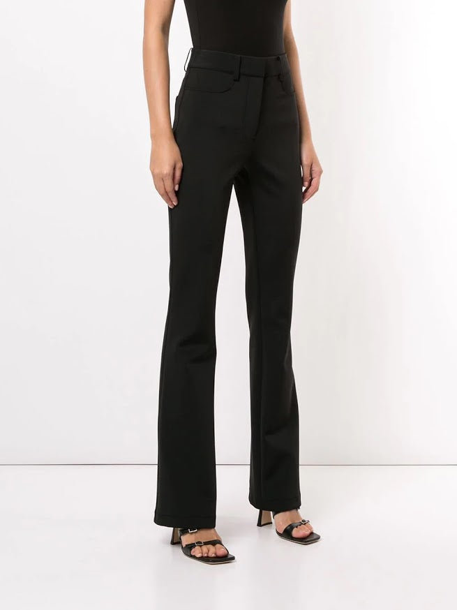 ALEXANDER WANG WOMEN MID RISE FLARED LEG TROUSERS