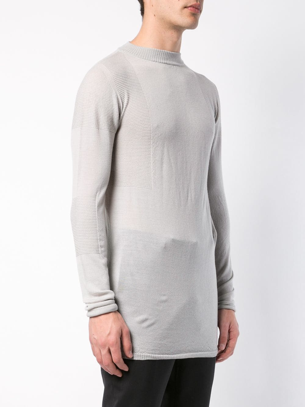RICK OWENS MEN LEVEL LUPETTO SWEATER