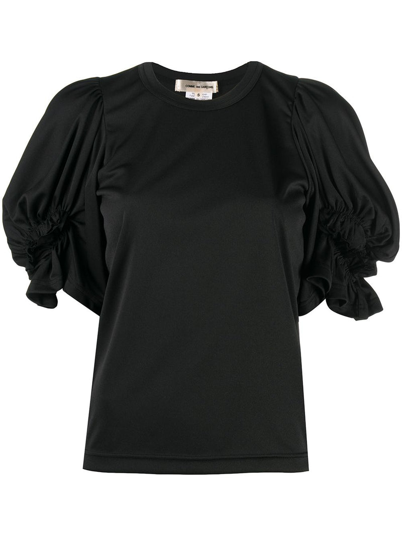 COMME DES GARCONS WOMEN RUFFLED SLEEVE ROUND NECK TOP