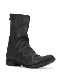 A1923 MEN HORSE CULATTA LEATHER DOUBLE ZIP BOOT