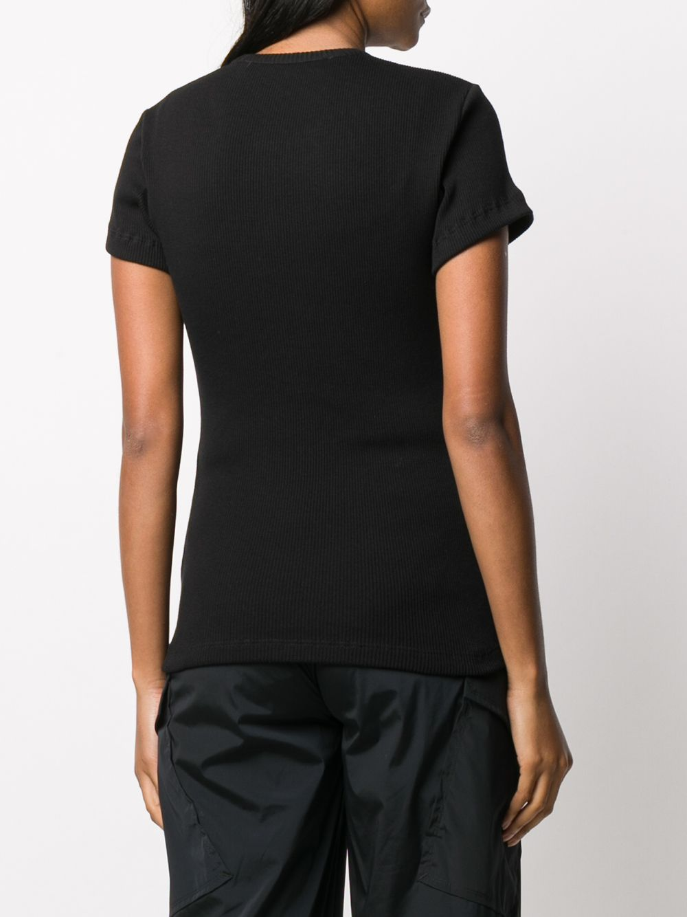 OFF-WHITE WOMEN RIBBED FITTED TEE
