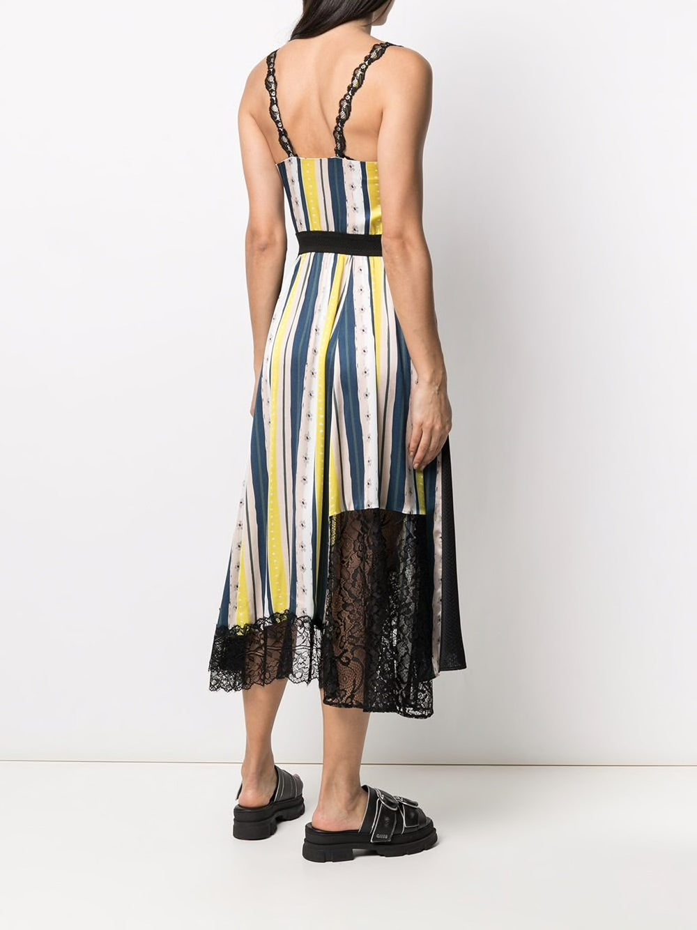 KOCHE WOMEN MULTI COMBO STRIPE LACE DRESS