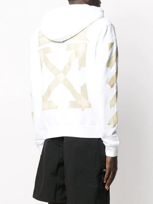OFF-WHITE MEN TAPE ARROWS SLIM ZIP HOODIE