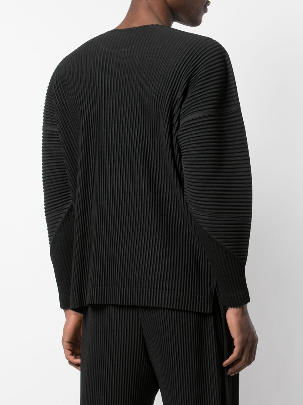 HOMME PLISSE MENS PLEATED TOP BLACK