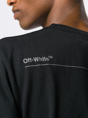 OFF- WHITE MEN UNFINISHED S/S SLIM TEE