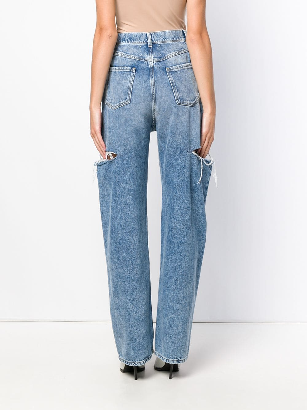 MAISON MARGIELA WOMEN 5 POCKETS CUT-OUT JEANS