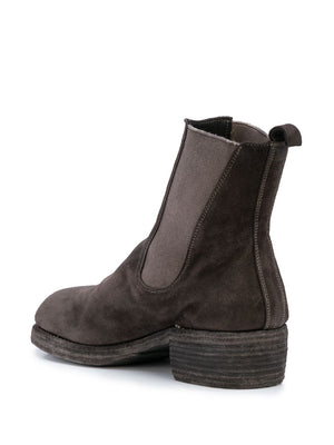 GUIDI MEN 76Z BABY CALF REVERSE LEATHER CHELSEA BOOTS