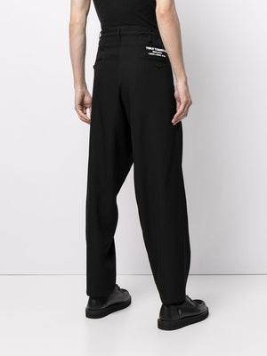 YOHJI YAMAMOTO POUR HOMME EMBROIDERY STRING PANTS