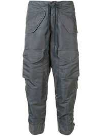 GREG LAUREN MEN WASHED SATIN CARGO AIR FORCE PANTS