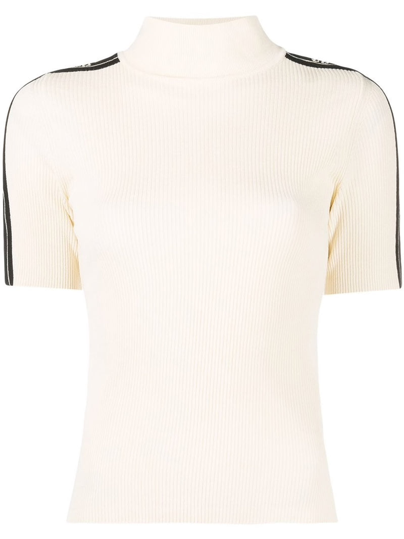 OFF-WHITE WOMEN LOGO STRIP S/S TURTLENECK