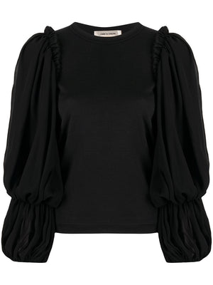 COMME DES GARCONS WOMEN T-SHIRT WITH TULLE SLEEVES