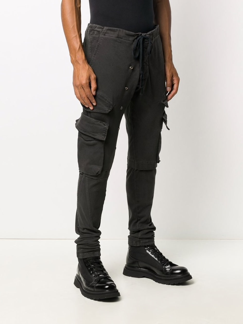 GREG LAUREN MEN STRETCH DENIM CARGO
