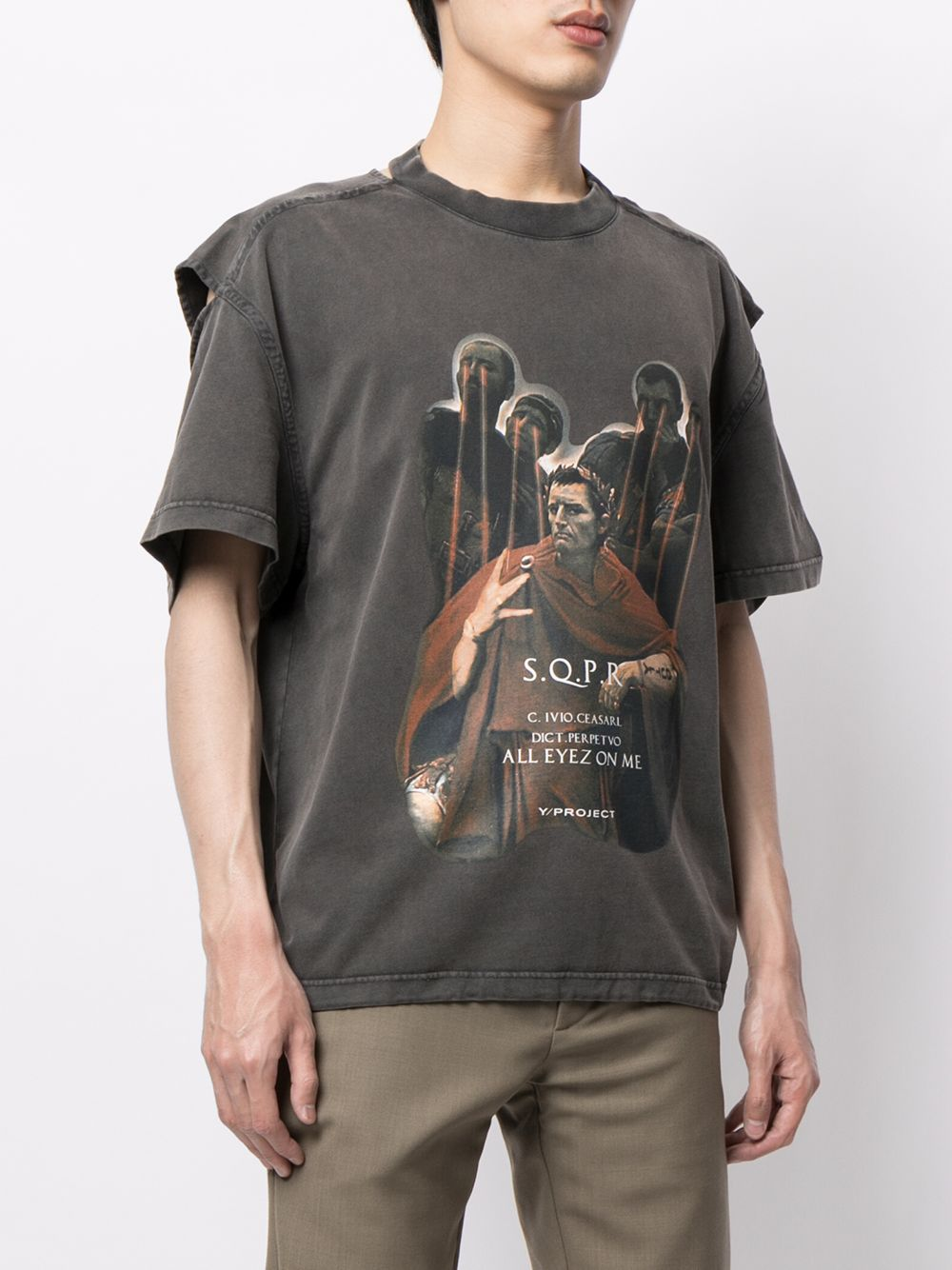Y/PROJECT UNISEX CONVERTIBLE CAESAR T-SHIRT