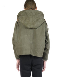READYMADE VINTAGE ARMY TENT CUT FISHTAIL PARKA WITH PINS