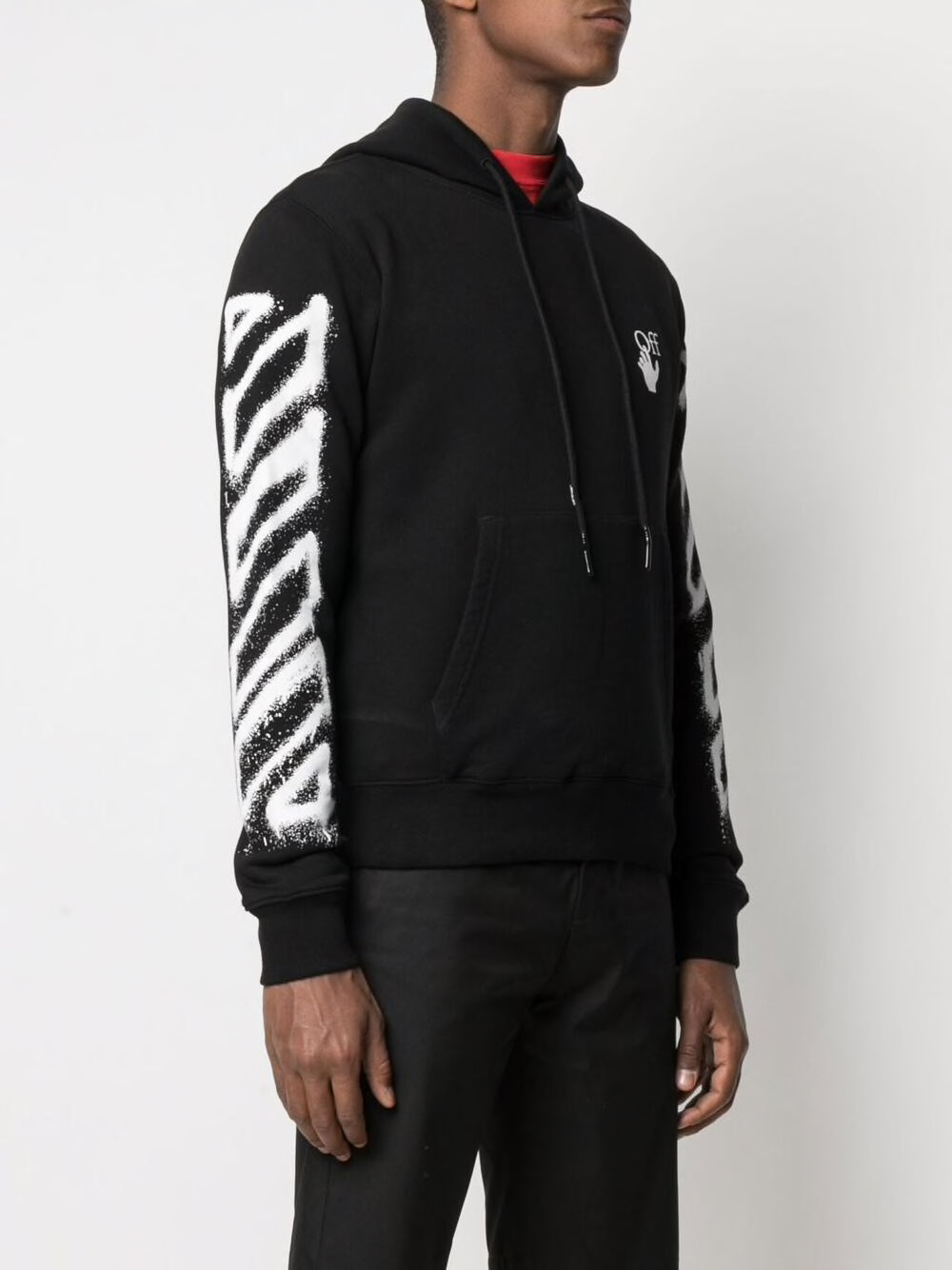 OFF-WHITE MEN SPRAY MARKER SLIM HOODIE