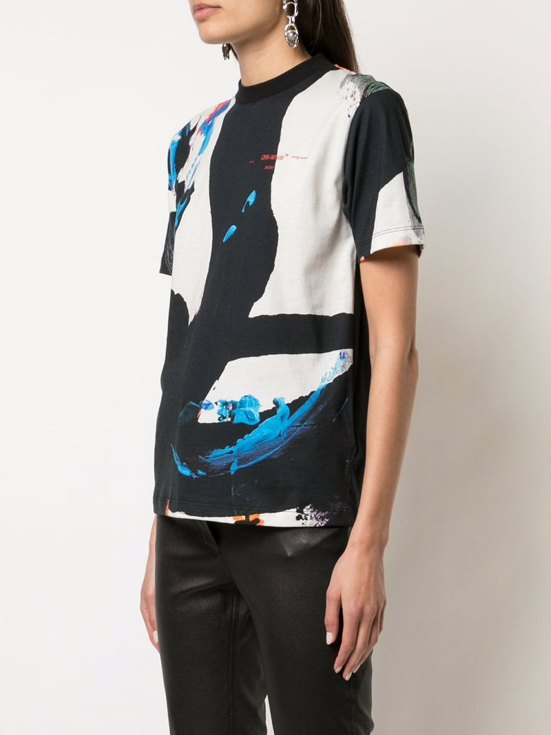 OFF WHITE WOMEN BRUSHSTROKES CASUAL TEE