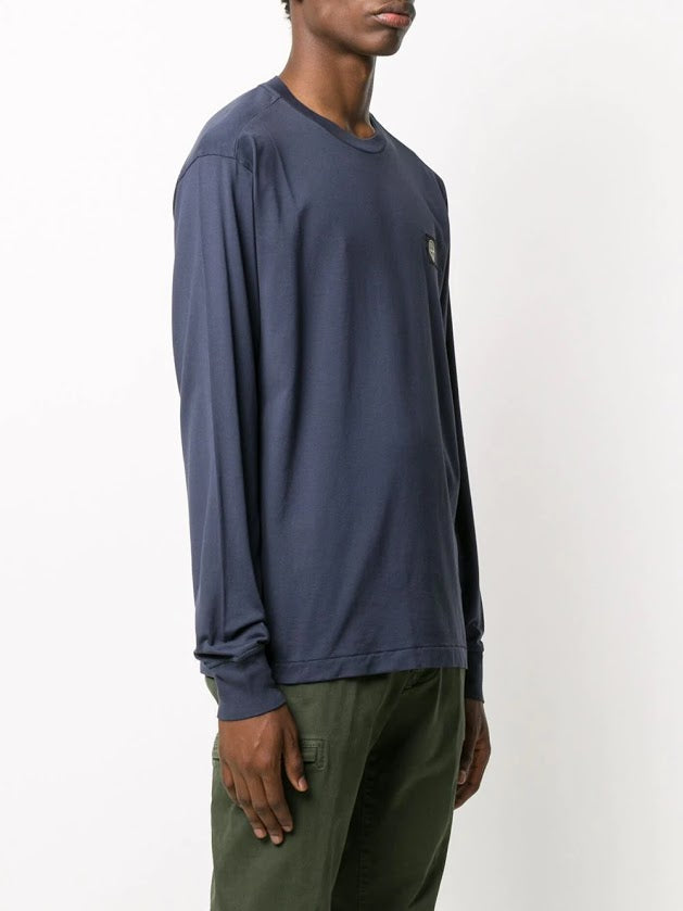 STONE ISLAND MEN LOGO PATCH COTTON LONG SLEEVE T-SHIRT