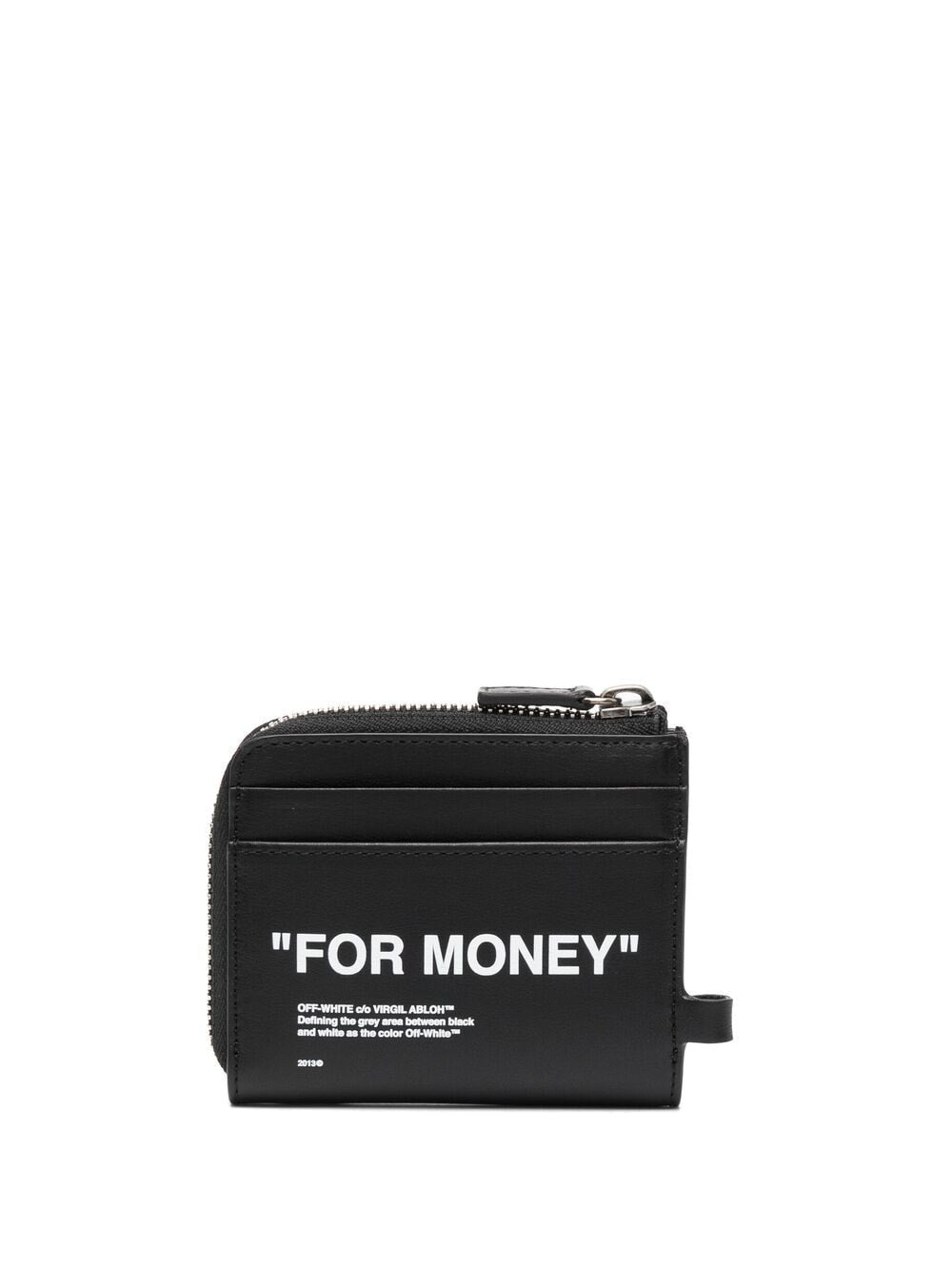 OFF-WHITE CALF SKIN QUITE CHAIN WALLET