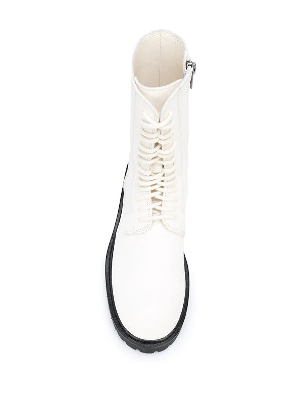 ANN DEMEULEMEESTER WOMEN LACE UP COMBAT BOOTS