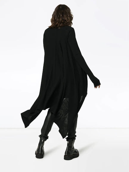 RICK OWENS WOMEN LONG WRAP CARDIGAN