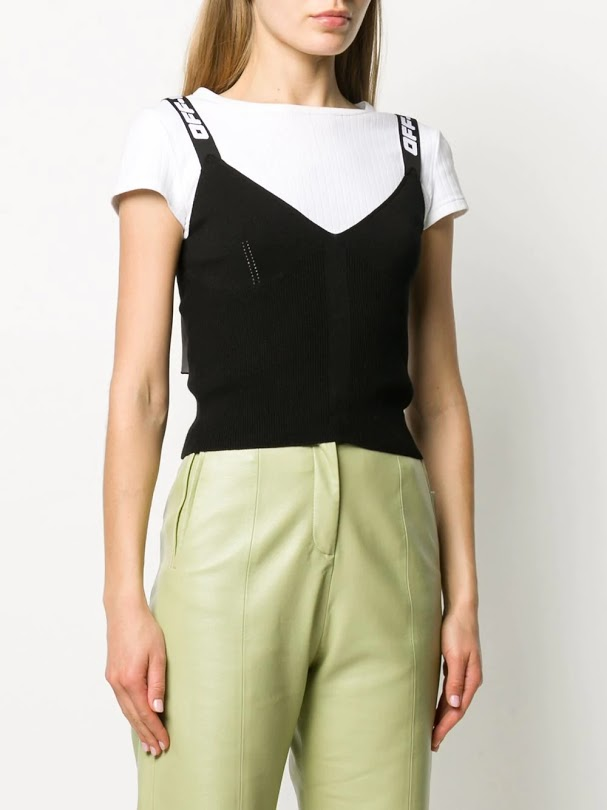 OFF-WHITE WOMEN KNIT INDUSTRIAL TOP BLACK NO COLOR