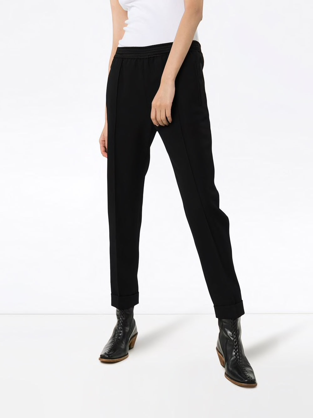 HAIDER ACKERMANN WOMEN ELASTIC WAISTBAND TROUSERS