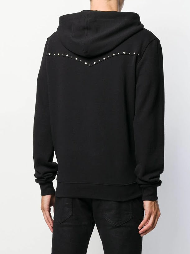 SAINT LAURENT MEN WESTERN STUDDED HOODIE