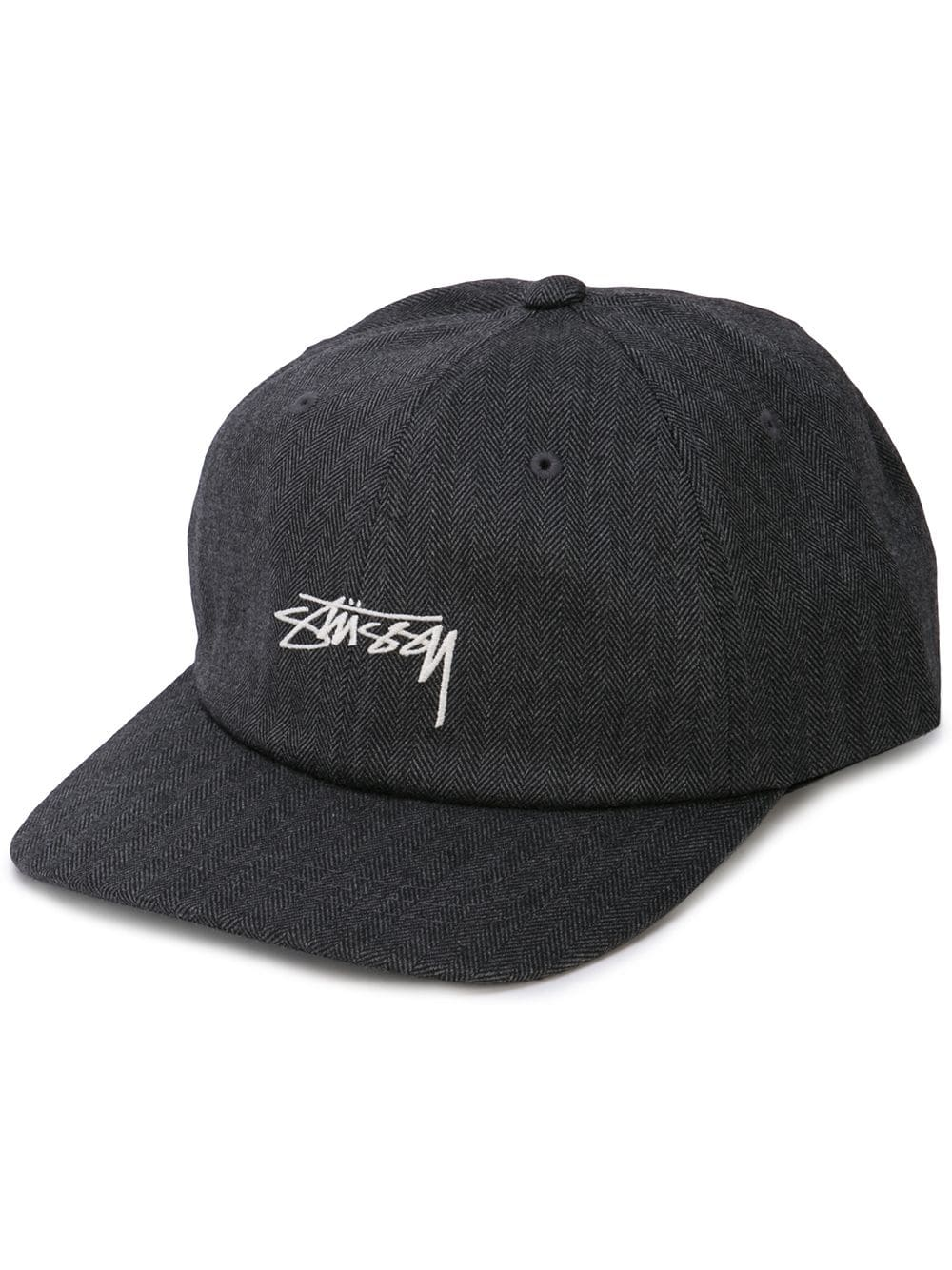STUSSY MEN STOCK HERRINGBONE LOW PRO CAP