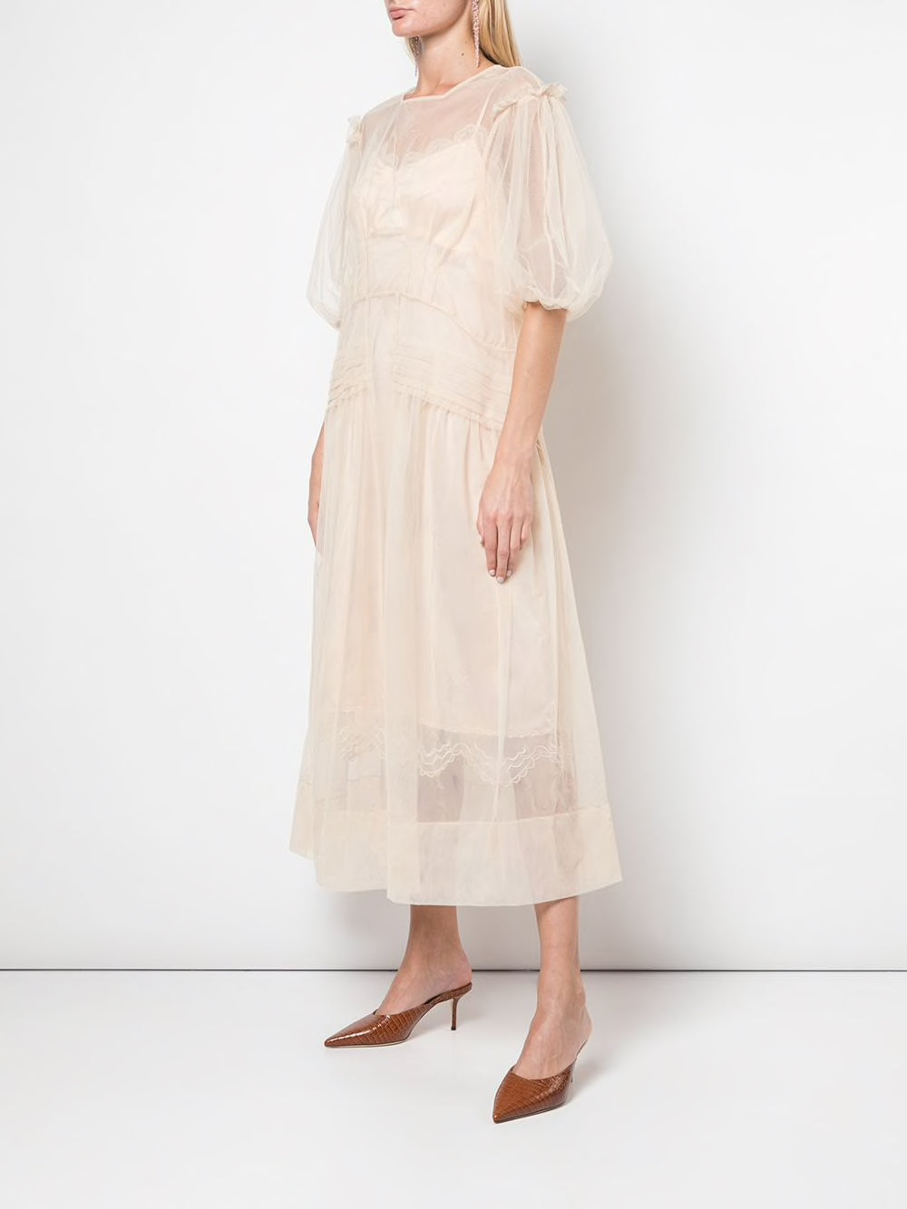 SIMONE ROCHA WOMEN PIN TUCK DRESS