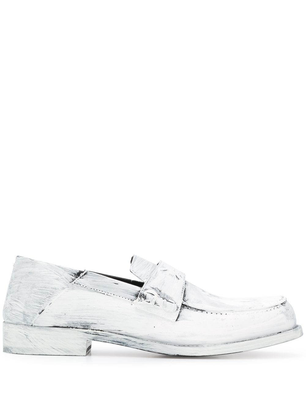 MAISON MARGIELA WOMEN STITCHED LOGO PAINTED LOAFER