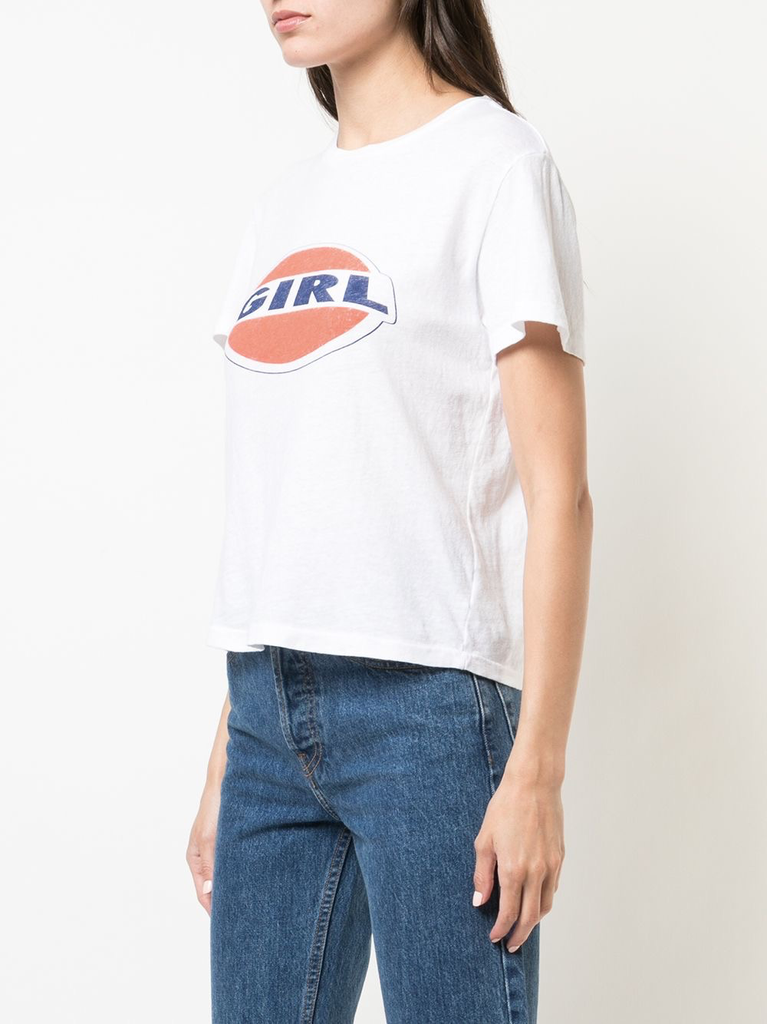 RE/DONE WOMEN CLASSIC TEE W/ GIRL GRAPHIC