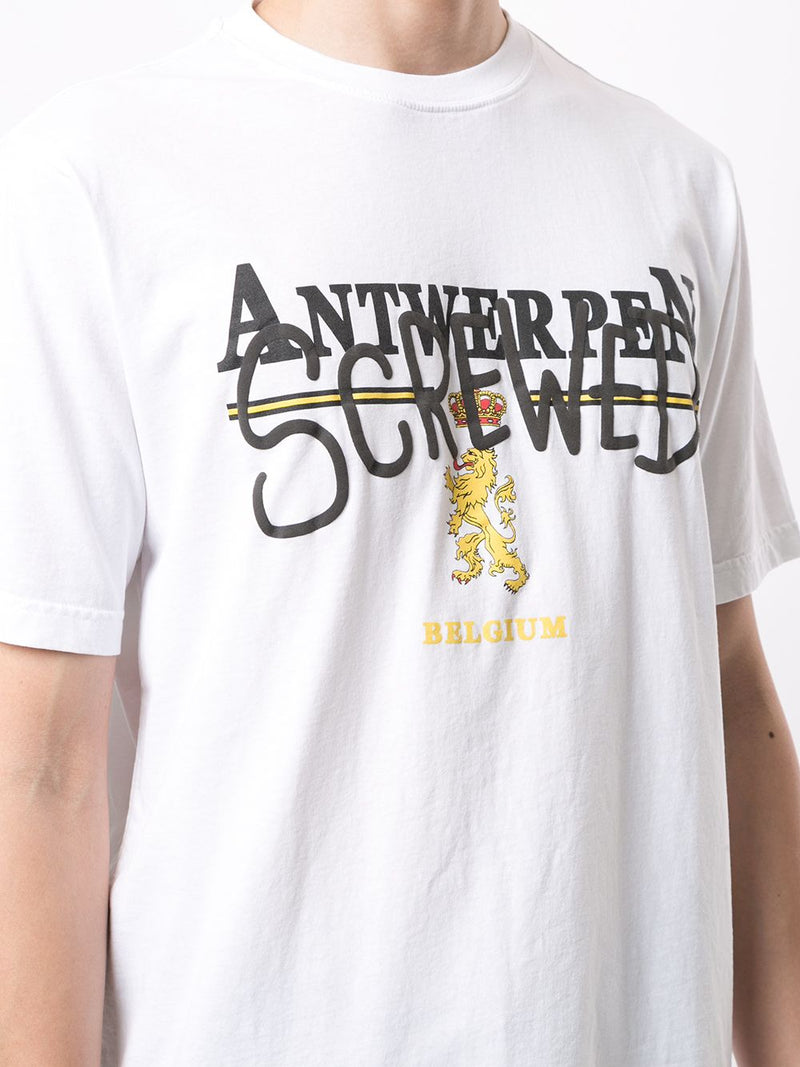 VETEMENTS UNISEX ANTWERPEN SCREWED T-SHIRT