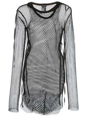 ANN DEMEULEMEESTER WOMEN DOUBLE LAYER FISHNET TOP