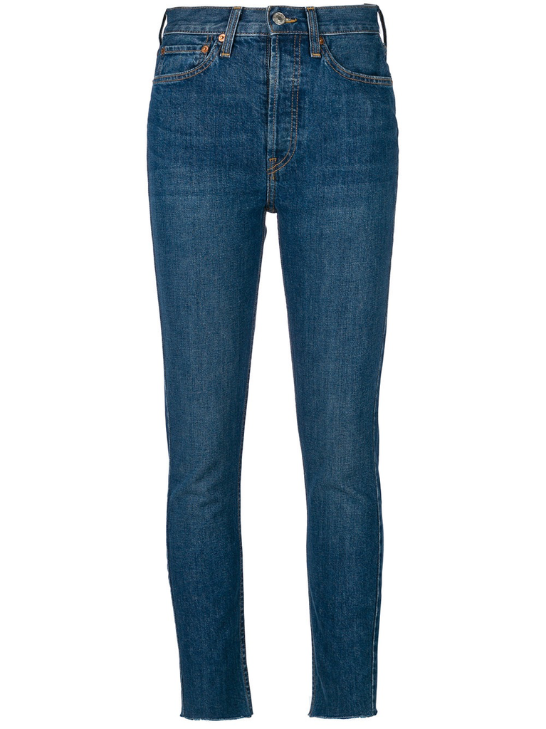 RE/DONE WOMEN HIGH RISE ANKLE CROP JEANS