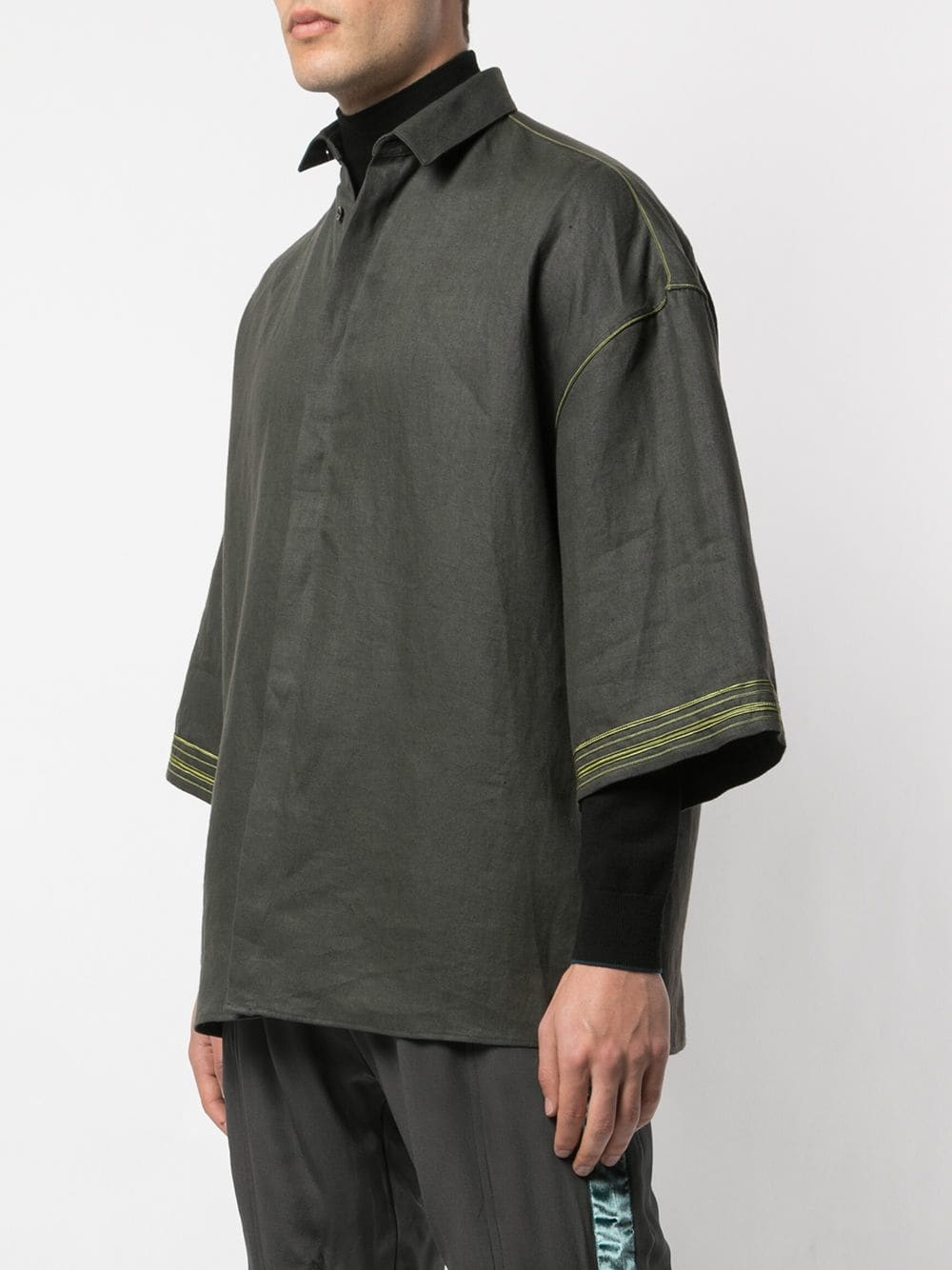 HAIDER ACKERMANN MEN 3 QUARTER SLEEVES SHIRT