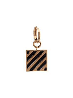 OFF-WHITE DIAG TAG EARRINGS