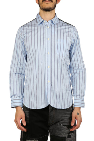 JUNYA WATANABE MEN MIX FABRIC PATCH SHIRT