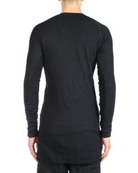LAYER-0 MEN CASHMERE SILK LONG SLEEVE T-SHIRT SWEATER